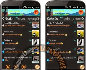Download BBM Mod WP Tema Dark v2.6.0.30 Floating Tab