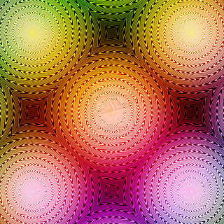 Interesting psychedelic illusion via deviant art