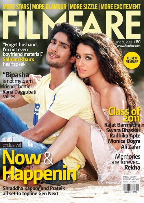 bollybreak_com_tuLHg - Shraddha Kapoor and Prateik Babbar on Filmfare Magazine Cover June 2011 Edition