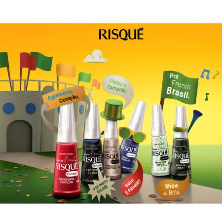 Coleção esmaltes Risqué Brasil por Risqué É campeão