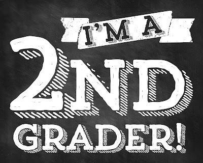 Gutsy image inside first day of 2nd grade printable sign