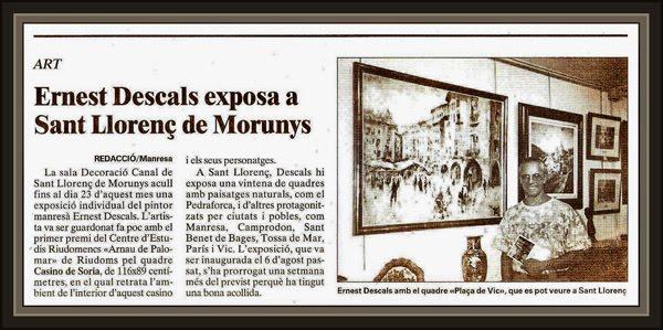 SANT LLORENÇ DE MORUNYS-LLEIDA-LERIDA-EXPOSICIONES-PINTURA-ERNEST DESCALS-