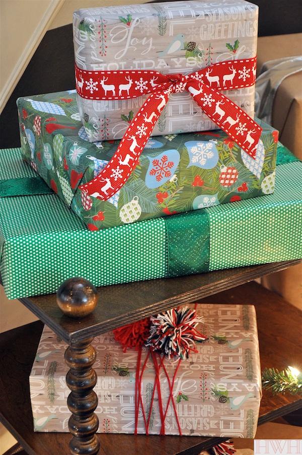 Festive Christmas gift wrap