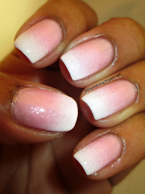 Julep Audrey, Nailed It Faded French, frenchie, pink, white, ombre, nails, nail art, nail design, mani