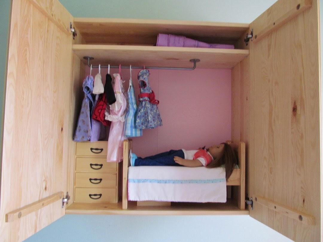 Wall mounted doll bedroom ikea hackers ikea hackers for Ikea cabinet bed hack