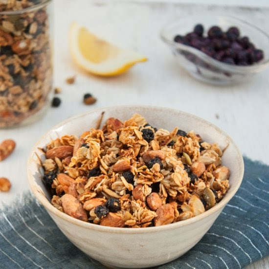 Dishing Up The Dirt | Blueberry Lemon Granola