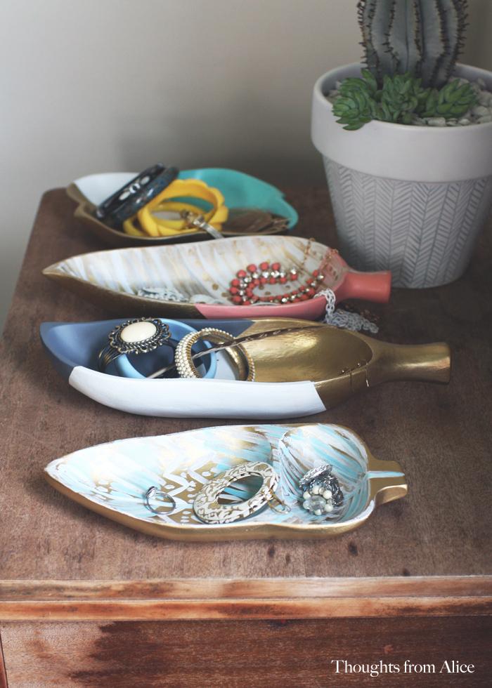 Upcylced craft vintage trays