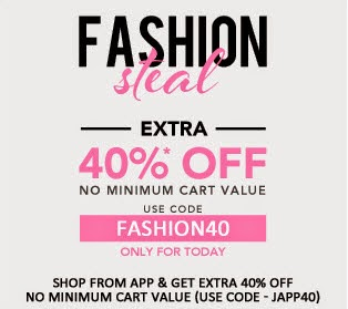 Jabong : Clothing, Footwears, Beauty, Bags & Accessories up to 84% + 40% off no min purchase from Rs.40