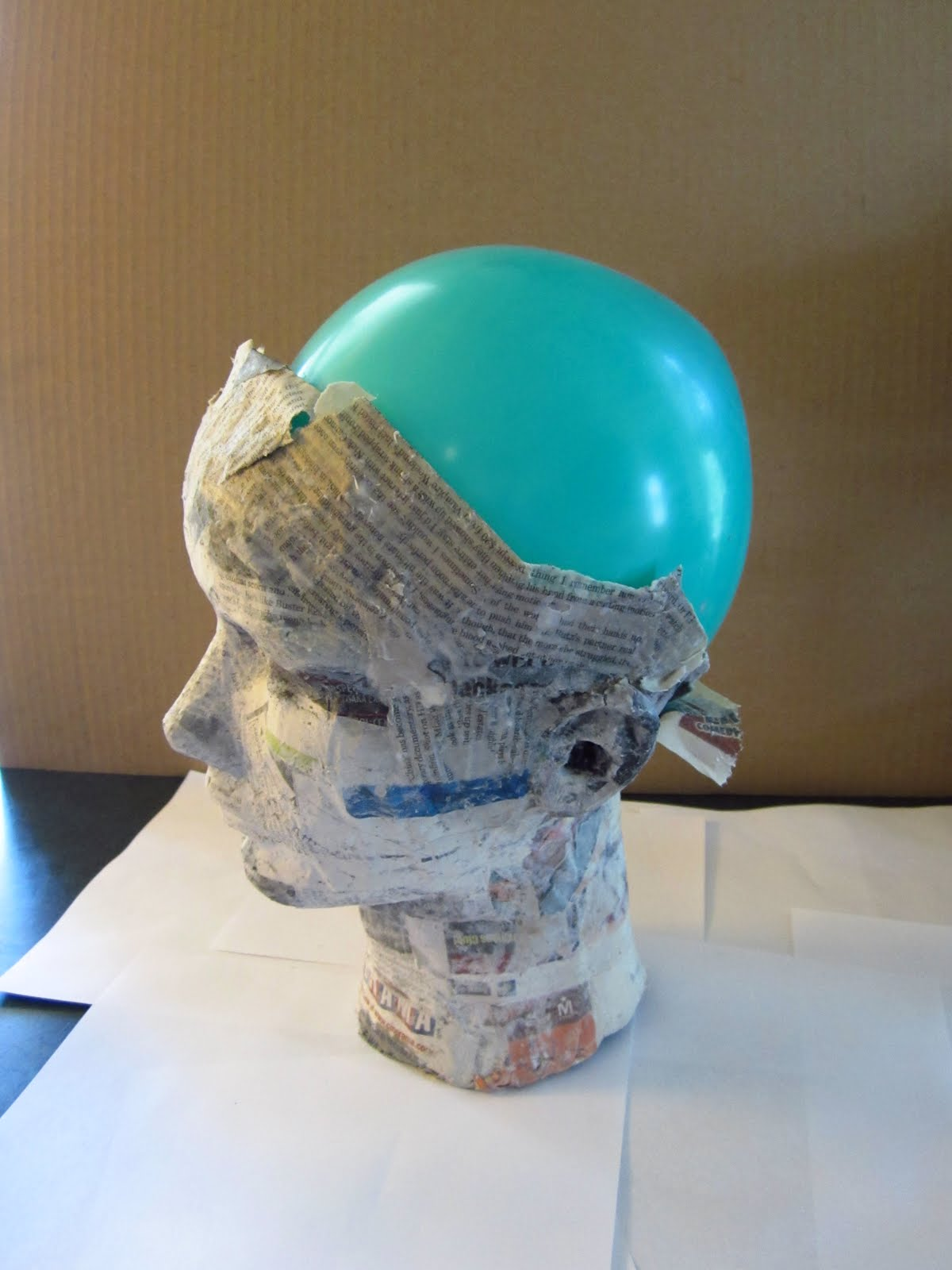objectsandsubjects making a paper mache head