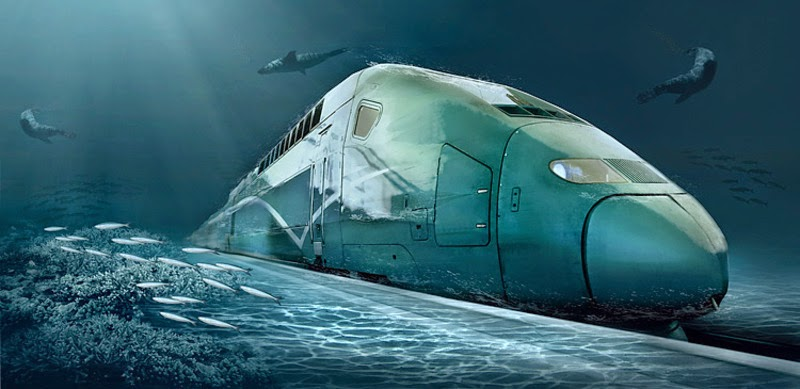The Fastest Underwater Train in the World 2900 Km/h Made in China