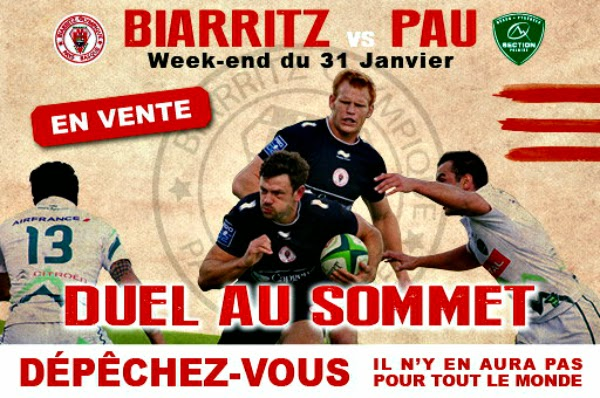 BIARRITZ OLYMPIQUE PAYS BASQUE contre SECTION PALOISE