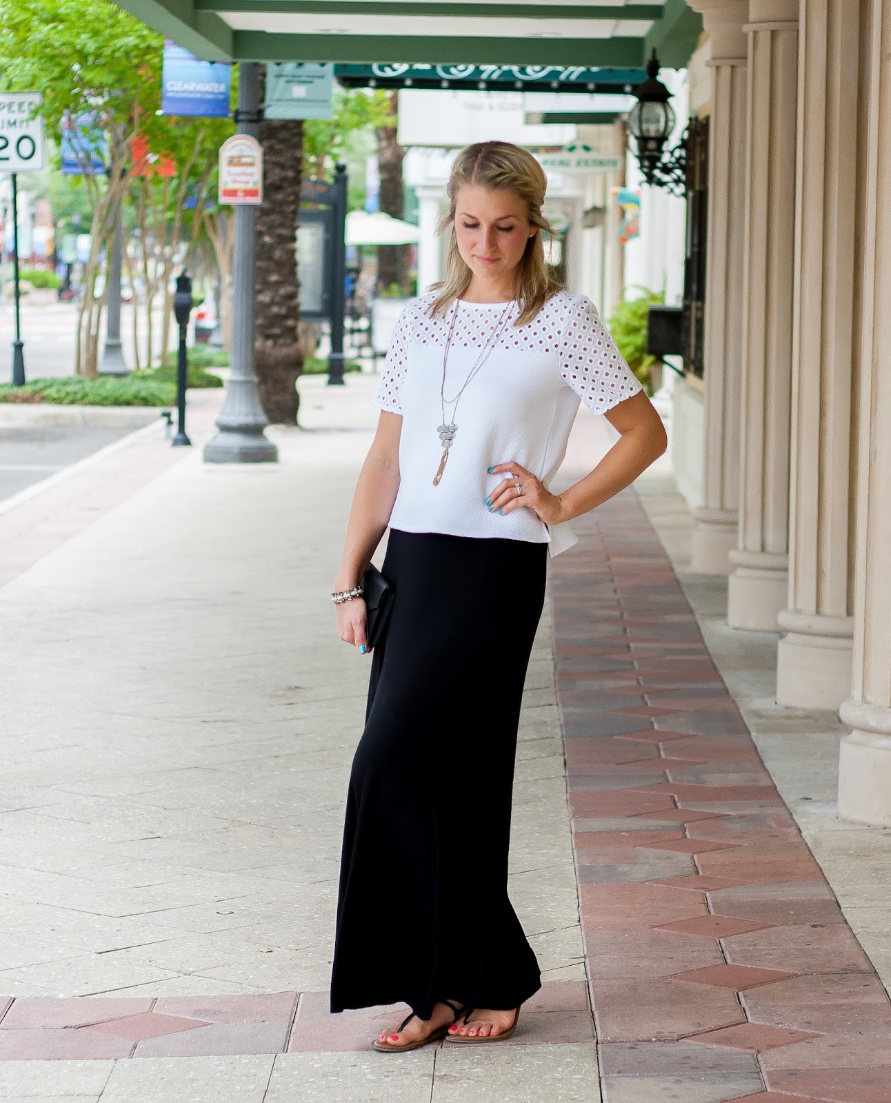 Coffee.Clothes.Repeat: Black Maxi, White Top
