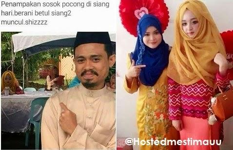 3 Gambar Gadis cute bertudung di gelar Hantu Pocong jadi Viral