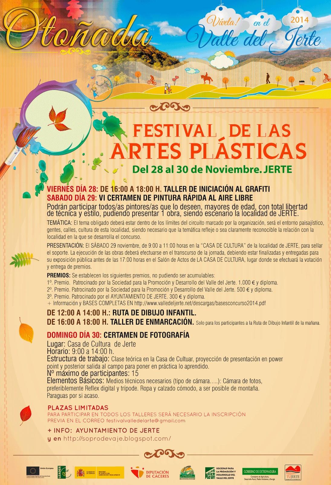 Festival de las Artes Plásticas (28 y 30 de noviembre en Jerte)