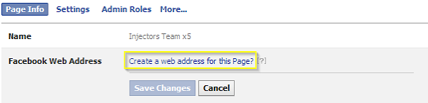 Create a web address