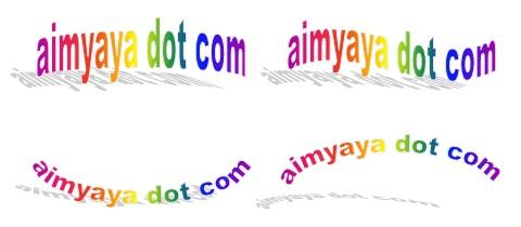 gambar contoh wordart bentuk  lengkung