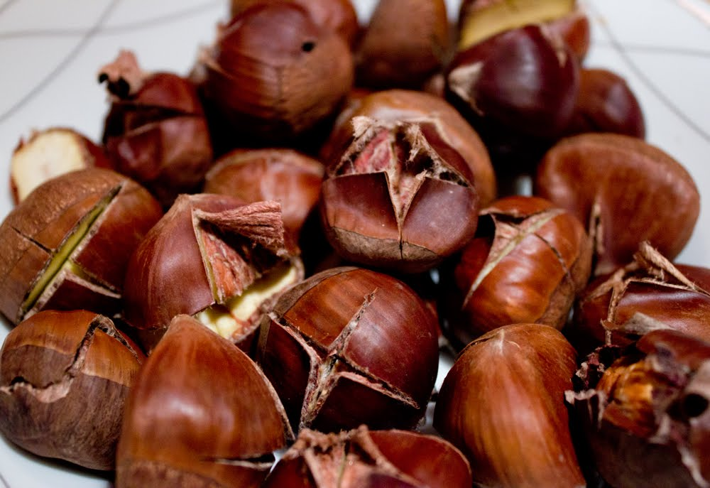 ... this wine roasted chestnuts are my pick the wine works well with the