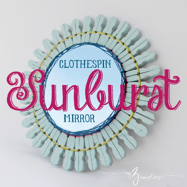 diy sunburst mirror, sunburst mirror diy, sunburst mirror
