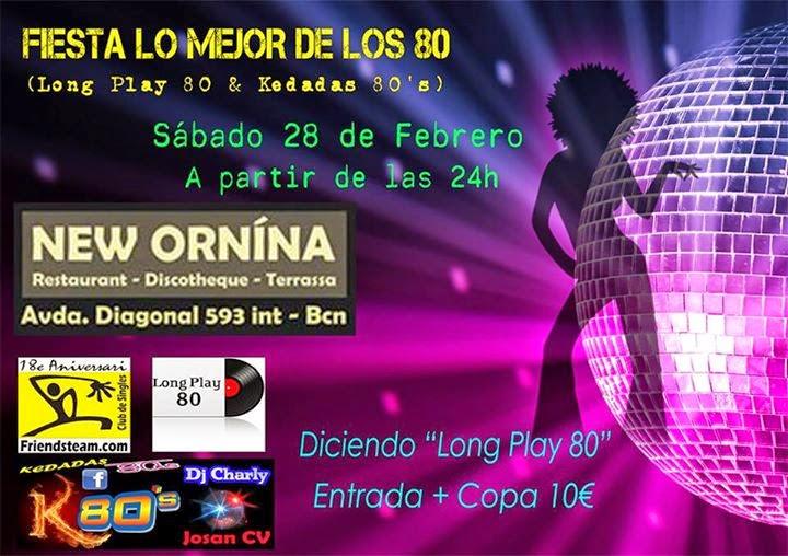 Flyer Fiesta Lo Mejor De Los 80