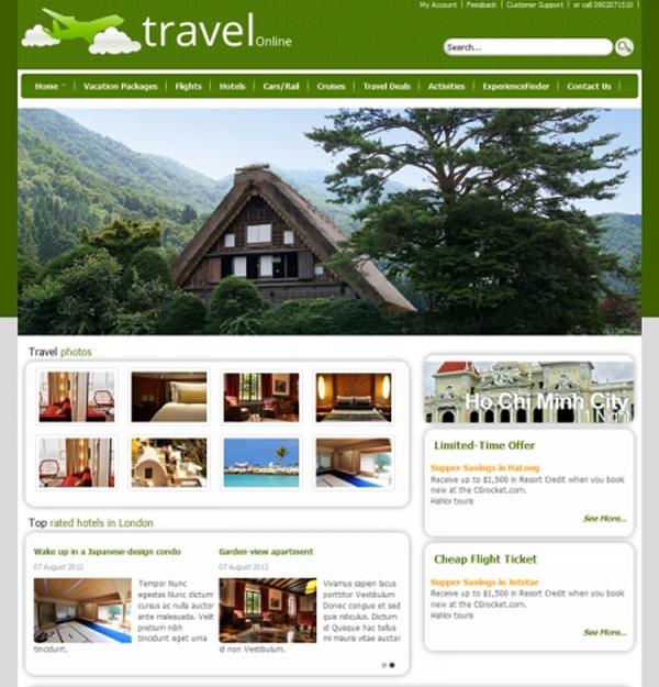 Cgrocket themes - Travel joomla 2.5 templates