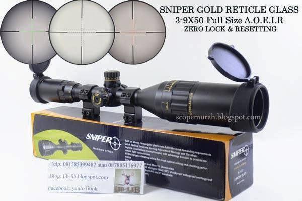 Scope murah: sniper nt 4 16x50 aogl harga rp 1 250.000
