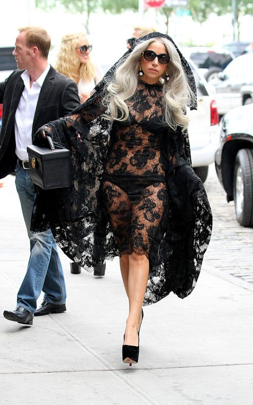 Lady Gaga - Show Her Underwear in New York