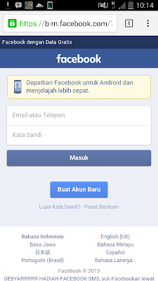 masuk facebook seluler