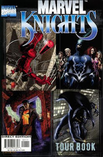 Capas das primeiras revistas publicadas no selo Marvel Knights