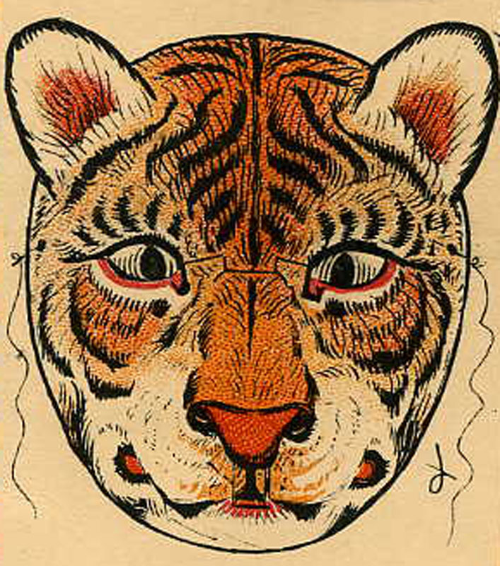 This is a photo of Bright Printable Tiger Mask