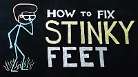 chalkboard animation of stinky feet