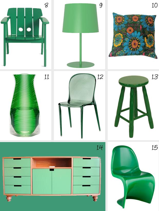 Decoração Pantone Emerald