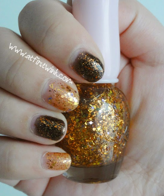Etude House If Story nail kit 2 nail polishes: #01 Jack O'Lantern and #02 Flickering Light
