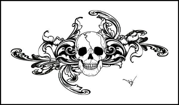 sugar skull tattoo sketches