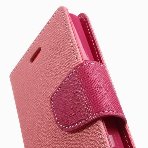 Mercury Goospery Fancy Diary Leather Case for Sony Xperia M C1904 C1905 C2004 C2005 - Pink