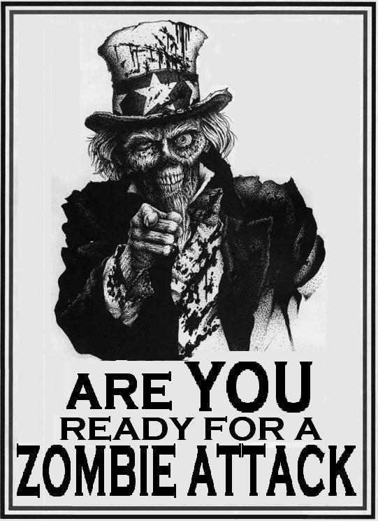 Are You Ready For A Zombie Attack - Cool Poster