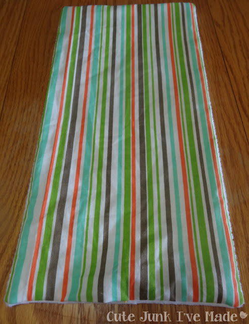 One-Hour Burp Cloths - Turned right side out, fabric on top