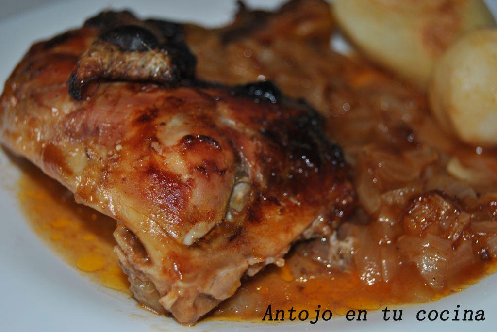 Pollo asado con salsa barbacoa - Antojo en tu cocina