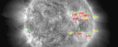 Llamarada solar clase M1.9, 09 de Junio de 2012