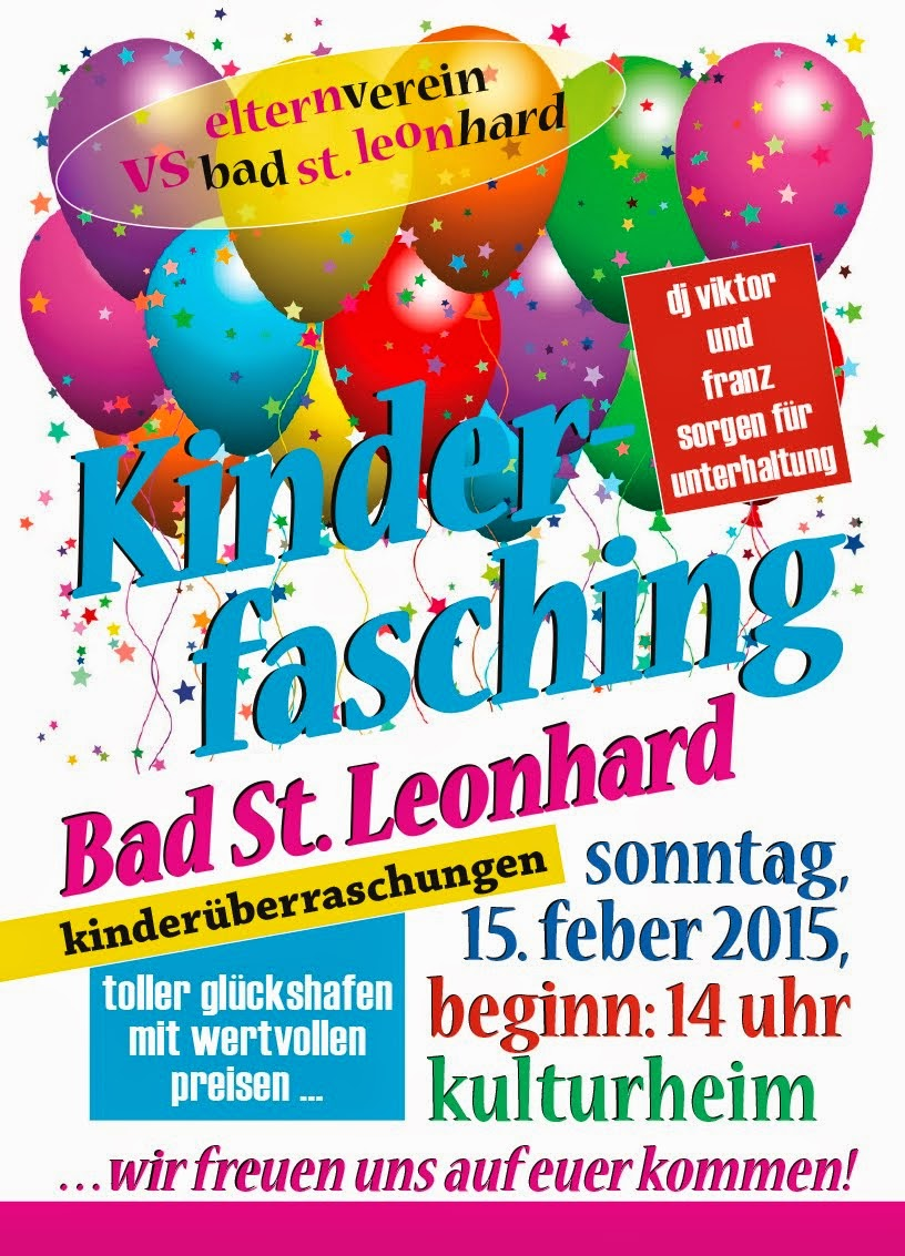 Kinderfasching in Bad St. Leonhard