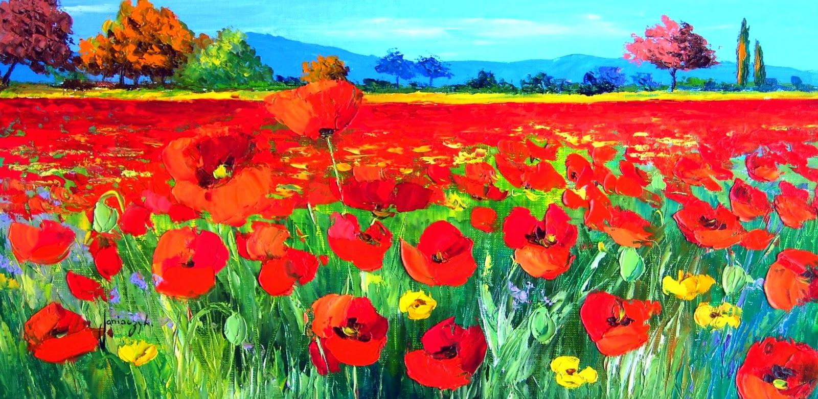 flores-en-paisajes-pintados-con-espatula
