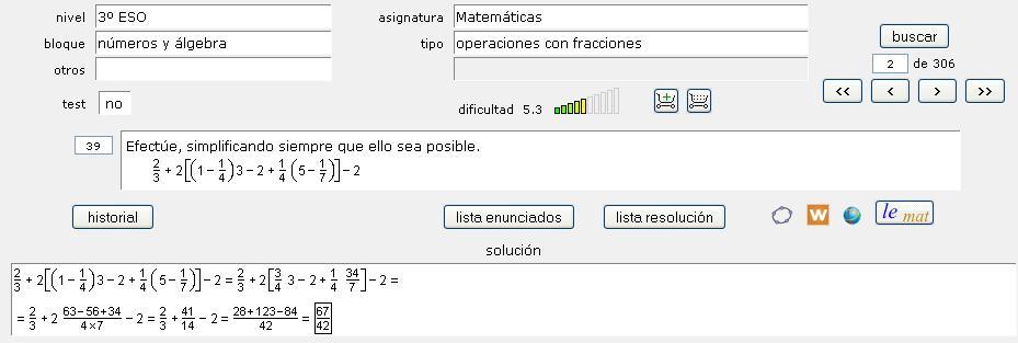 BDMAT: Base de datos de matemáticas
