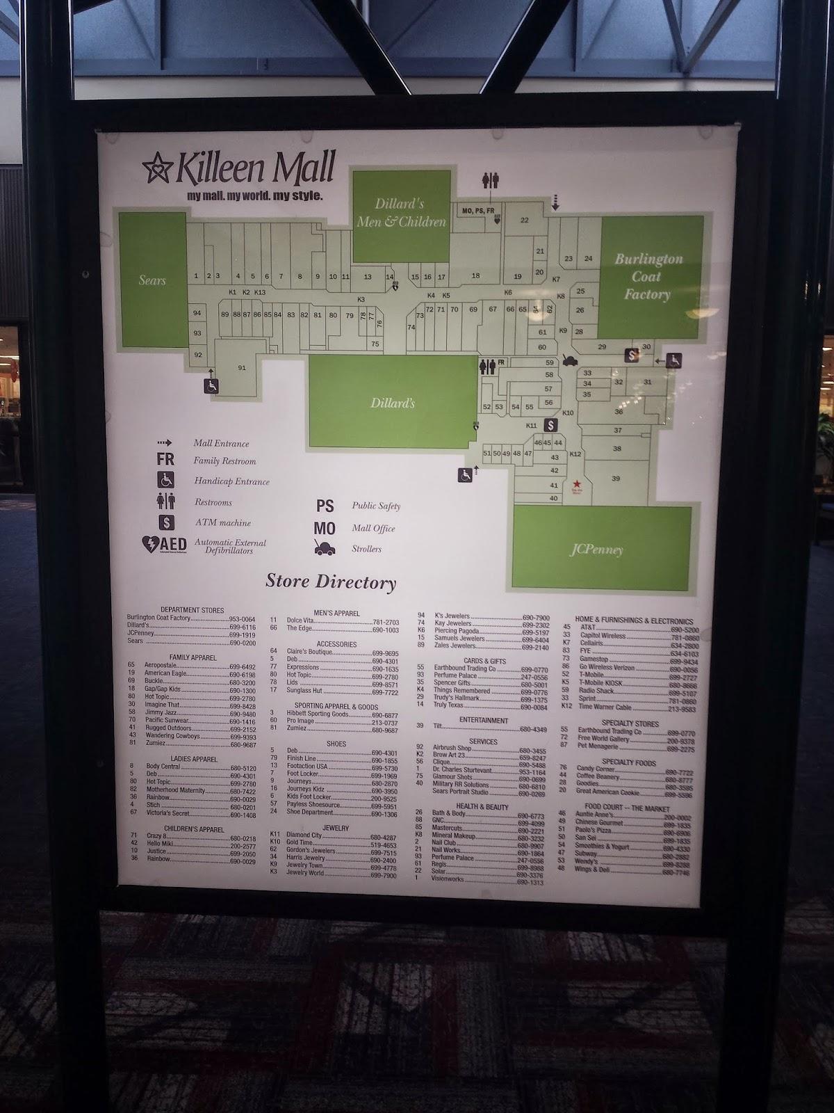 The Louisiana and Texas Retail Blogspot: Kileen Mall Kileen Tx