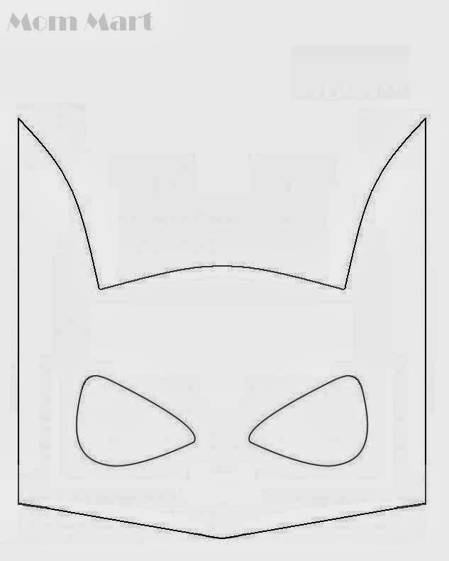 Batman Themed Birthday Party #FreePrintables #Batman #BatmanParty #BatmanMasks
