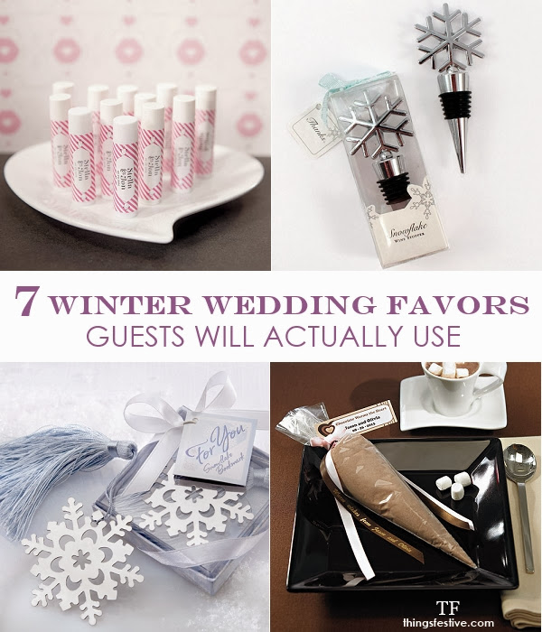 when it comes to winter wedding favors why not send guests home with