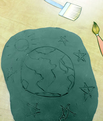 NAMC montessori earth day activities recycling modeling dough free printables earth picture