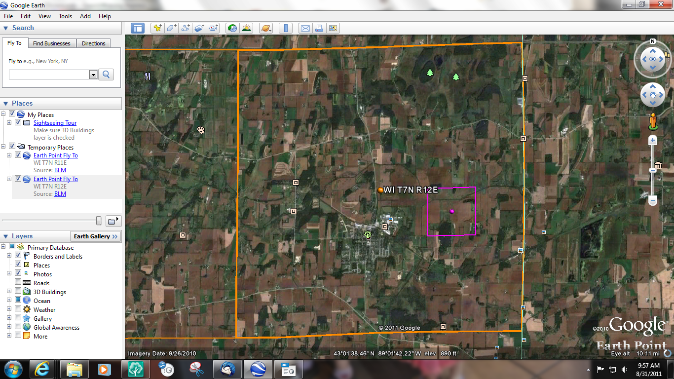 GeneaMusings Planning For My Visit To Dane County Wisconsin - Us counties google earth