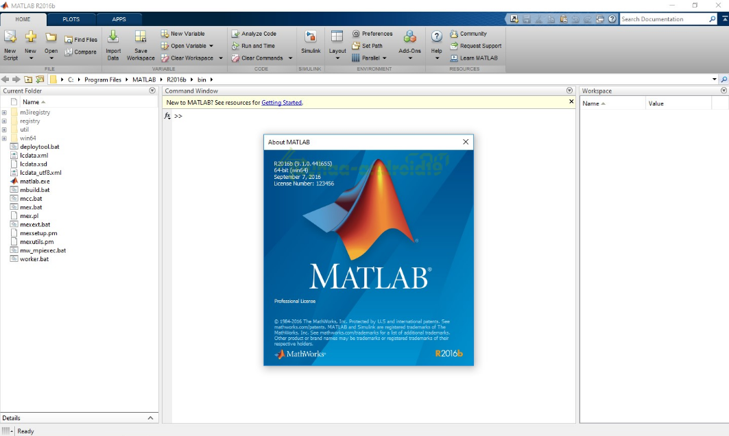 Mathworks Matlab R2016b