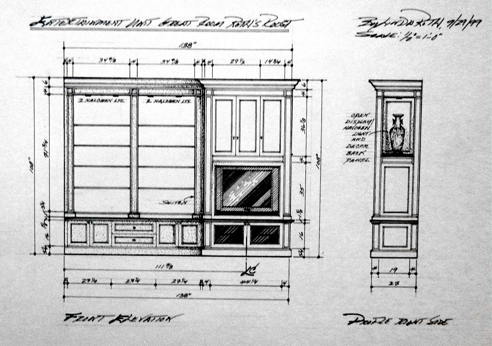 Crown Molding Elevation Drawing