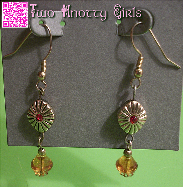 Hand Crafted Sunburst Drop Earrings by Two Knotty Girls™