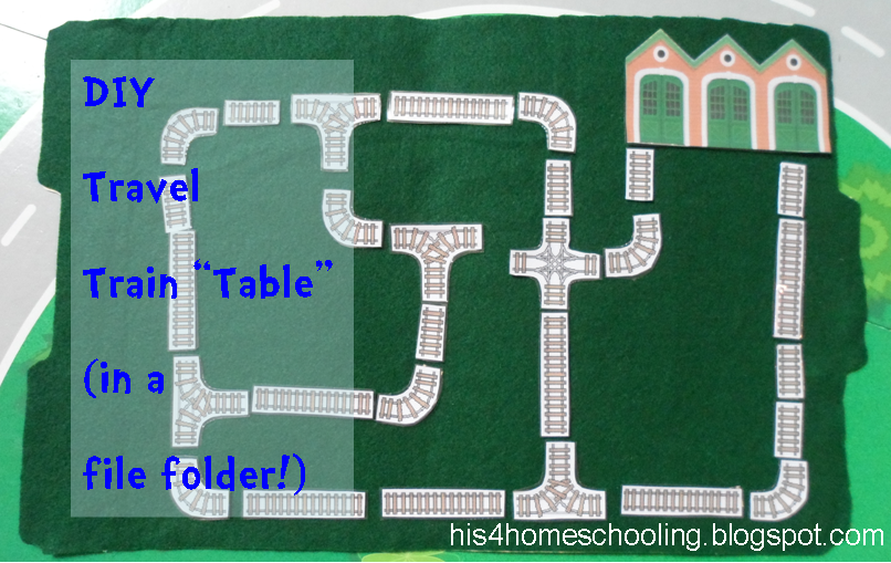H Is For Homeschooling Travel Train Table In A File Folder